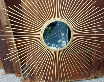 On Sale Starburst Mirror / Retro / Atomic / Mid Century Modern Decor / Gold Mirror/ Sunburst/ MCM/Vintage