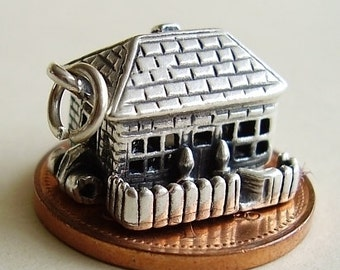 Sterling Silver Opening Cottage Charm