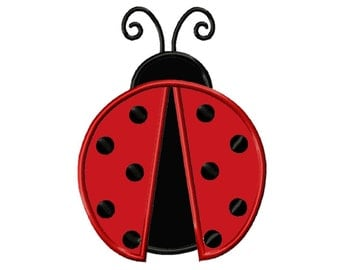 Ladybug...Applique Machine Embroidery DESIGN NO. 164