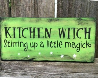 Kitchen Witch Sign (Green)