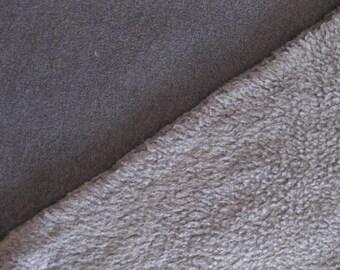 Italian Double-Faced Polarfleece Fabric, Technical Fabric By The Yard