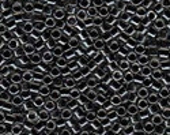 MIYUKI #11 Delica 925 - Charcoal Lined Crystal with Sparkle - 5 grams