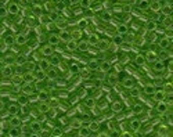 MIYUKI #11 Delica 1106 - Transparent Lime Green - 5 grams