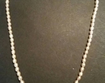 Freshwater Pearl Necklace Glass Costume Jewelry