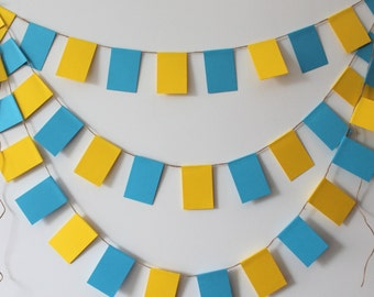 Blue and Yellow garland, Blue and Yellow banner, Blue banner, Blue garland, Yellow banner, Yellow garland, Nursery banner decor