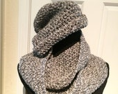 100% Wool Hat n Scarf, SPECIAL ORDER ONLY, Handmade, Crochet Hat & Scarf, Circular scarf, Infinity scarf