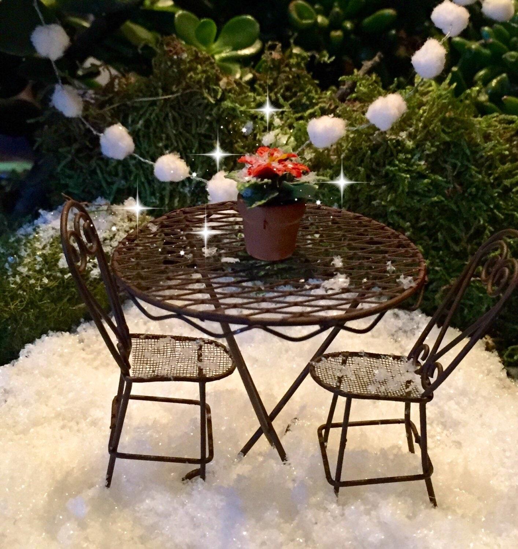 ... Elegant Miniature Outdoor Furniture