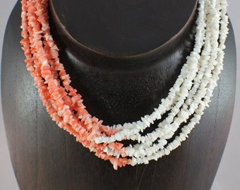 Vintage Salmon and Peach Coral Necklace