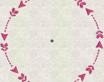 Instant Download Embroidery Machine Pes Designs Arrow Wreath Frame Mod Elements  2 Sizes PES Format