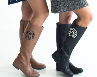 SALE!! Monogrammed Boots - Monogram Gift