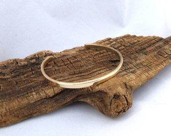 Thin Brass Cuff Bracelet, Women's Brass Bracelet, Men's Brass Bracelet, Minimalist Brass Bracelet, Solid Brass Bracelet, ColeTaylorDesigns