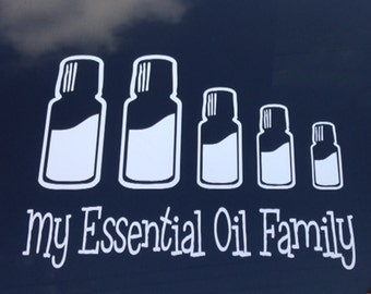 Essential Oil Bottle Family Vehicle Window Sticker