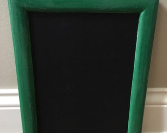 Green Vintage 8x10 Framed Chalkboard Ready to be Personalized
