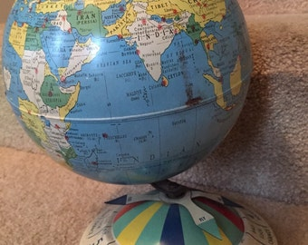 Air Race game tin globe (Replogle Globe)