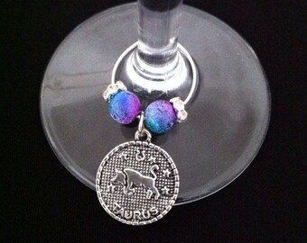 Horoscope Wine Glass Charm