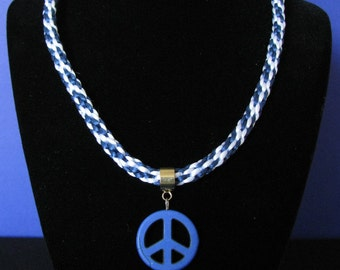 Navy Peace and Love necklace