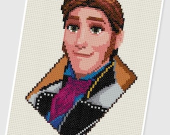 PDF Cross Stitch pattern - 0039.Prince Hans (Frozen) - INSTANT DOWNLOAD
