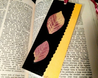Bookmark dried flower bookmark pressed flowers dried leaves