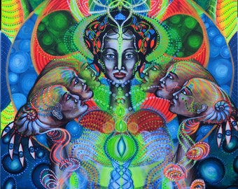 Visionary art ,poster,print,A1,*Sevent Generation*