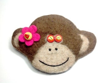 Chinese New Year of the monkey Felted wool monkey bag