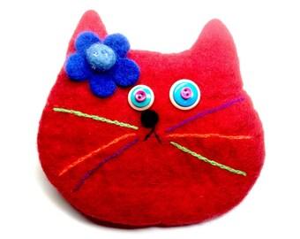 Red cat bag