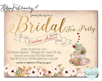 Bridal shower tea Etsy
