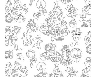 Color Me in Jolly Holiday by Hayley Crouse for Michael Miller fabrics