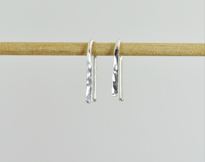 Silver Arc Earrings, Arc Earrings, Horseshoe Earrings, Open Hoop Earrings, Small Silver Hoops, Dainty Earrings, Everyday Earrings, Alari