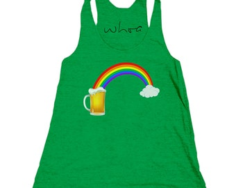 Rainbow Leads to Beer Tank Top