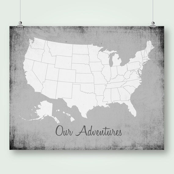 Usa Push Pin Map Poster Download Large Size United States Map - Map of the us poster size