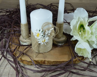 Rustic Wedding Candles Rustic Unity Candle Set Wedding Unity Candle Wedding Unity ideas Wedding Candles