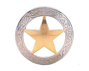 "Texas Star Screwback Concho 3/4"" 7465-01"