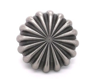 "Parachute Concho Antique Nickel 1"" (2.5 cm) Stecksstore 2257-21"