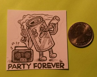 PARTY FOREVER sticker