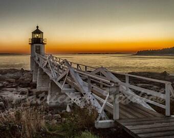 Maine Lighthouse: Marshall Point Head by Dusk, Port Clyde, Maine
