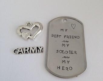 My Best Friend Soldier Hero Keychain