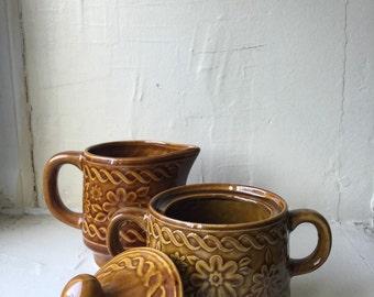 Vintage Creamer and Sugar Bowl Set