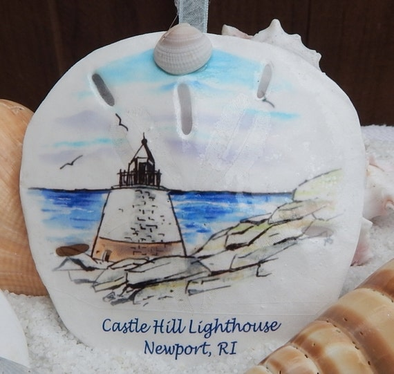 Newport Rhode Island Castle Hill Lighthouse Sand Dollar