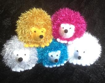 Hand knitted plush hedgehog