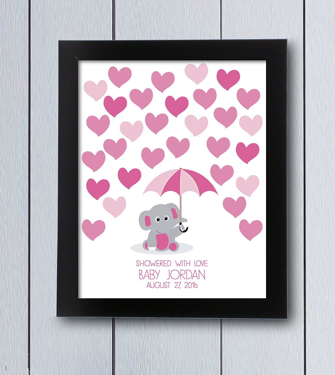 Elephant Baby Shower Guestbook / Printable Pdf / Umbrella
