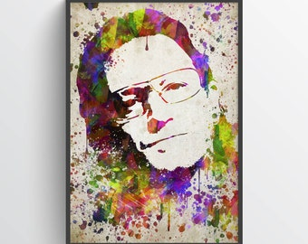 Bono Poster, Bono Print, Bono Art, Bono Decor, Home Decor, Gift Idea