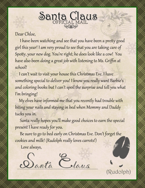certified letter from santa claus personalized With certified letter from santa