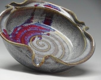 Brie Baker Pottery - Mini Pie Pan, Handmade Dusty Purple Glaze, Cheese Plate, from Ayers Pottery