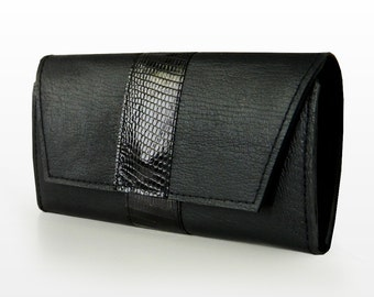 "Leather wallet ""Onyx"""