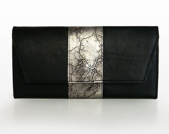 "Leather Wallet ""Iron"", Clutch Wallet, genuine leather"