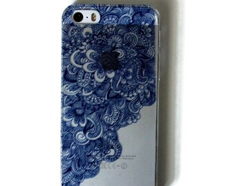 Blue Lace Hard iPhone 5s Case