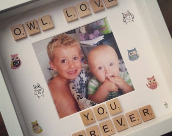 Owl Love You Forever Frame with a photo - cute owl frame