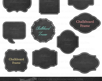 Chalkboard Frames Clipart - Instant  Download - CA038