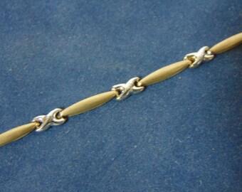 Women's Vintage Estate 10K Yellow Gold Bracelet, 2.84g E2057