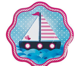8/ Nautical Baby Girl Dinner Plates